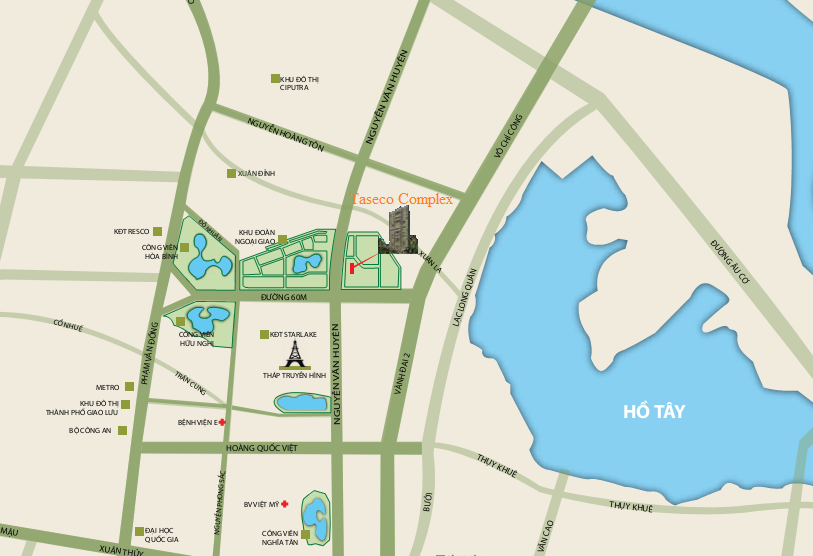 vị trí khu đô thị ngoại giao đoàn